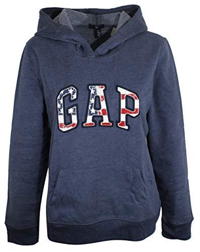 GAP Damen Fleece-Kapuzenpullover mit gewölbtem Logo -  -  Klein
