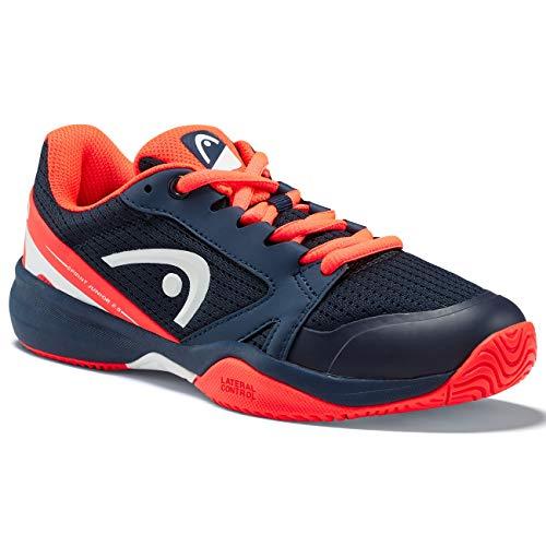 Head Sprint 2.5 Junior, Scarpa da Tennis Gioventù Unisex, Dark Blue/Neon Red, K35