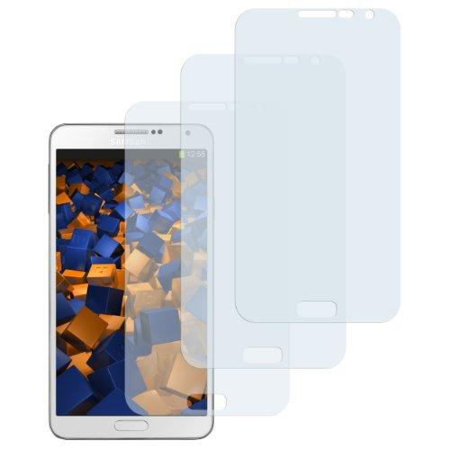 mumbi Schutzfolie kompatibel mit Samsung Galaxy Note 3 Folie klar, Bildschirmschutzfolie (3X)