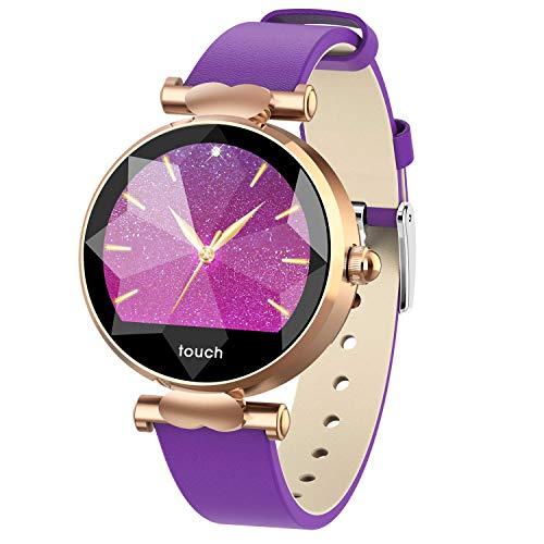 VISTANIA Gimnasio Rastreador Reloj Inteligente Actividad Deportes de Moda Relojes de Pulsera IP67 Starry Sky Dial para Android iOS,Gold