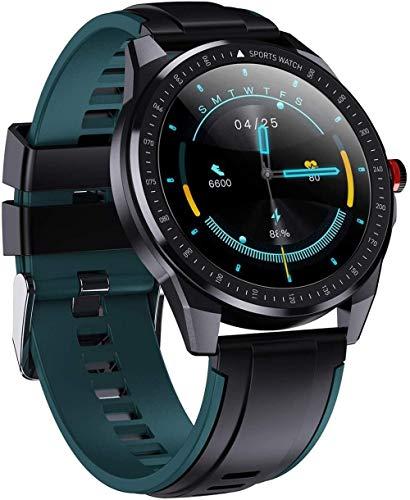 SHIJIAN Smart 1.3 pulgadas Full Circle reloj táctil completo, recordatorio de llamada podómetro IP68 impermeable bluetooth pulsera moda hombres y mujeres pulseras - verde