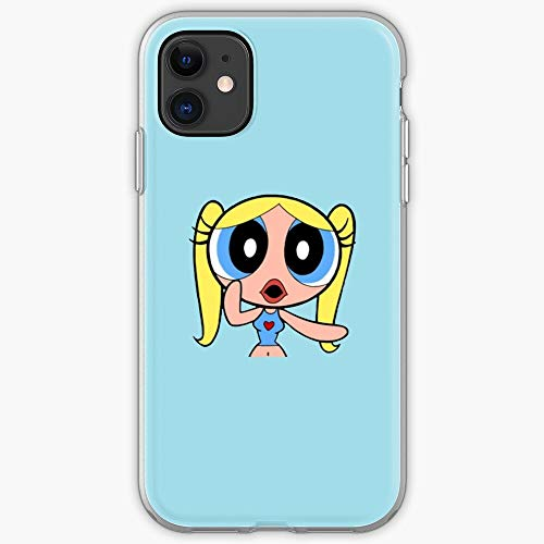 Powerpuff Teen Blue Bubble Girls Cartoon Light I Fsgyunkun- Phone Case for All of iPhone 12, iPhone 11, iPhone 11 Pro, iPhone XR, iPhone 7/8 / SE 2020… Samsung Galaxy