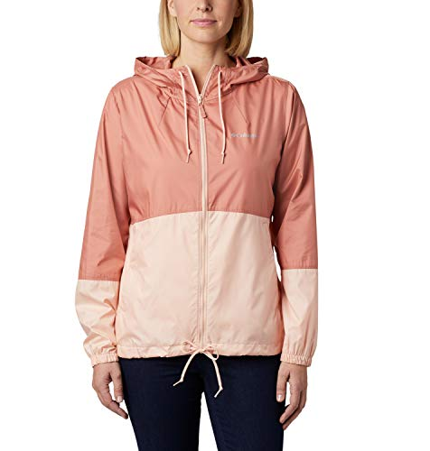 Columbia Flash Forward, Chaqueta cortavientos, Mujer, Rosa (Cedar Blush/Peach Cloud), XL
