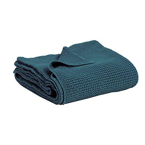 Vivaraise - Couverture canapé - Plaid canapé - Plaid - Couverture Polaire - Couvre lit - Couverture Plaid – Couverture Chaude – Plaid Extra-Doux - Multifonctions - 140 x 200 - Topaze Bleu - Maia