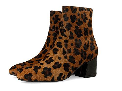 Gioseppo 30551, Botas para Mujer, Marrón (Leopardo), 38 EU