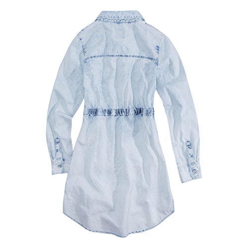 Levi's Girls' Big Long Sleeve Western Dress, Pearl Blue, S
