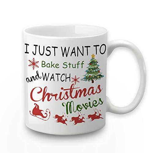 Hallmark Christmas Movie Mug I Just Want To Bake Stuff And Watch Christmas Movies Mug Christmas Movie Mug Christmas Coffee Mug Bake Stuff And Watch Christmas Movies Mug 11