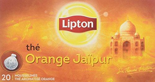 Lipton Orange Jaipur in einzigartigen Stoff-Teebeuteln mit echten Teeblättern, 4 Boxen