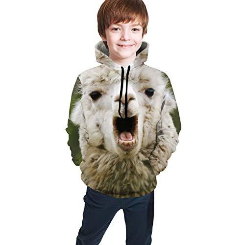 MZZhuBao Cartoon Teens Hooded Singlet Hoodie Coat Sweatshirt Comfortable Pullover Jacket Alpaca Face