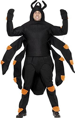 Smiffys Costume araignée, avec haut, capuche, abdomen, protèges genoux & chevilles