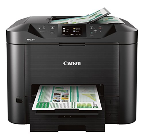 Canon Office and Business MB5420 Wireless All-in-One Printer,Scanner, Copier and Fax, with Mobile and Duplex Printing , black , desktop