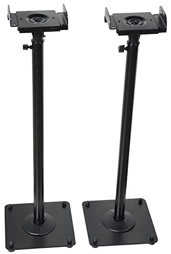 VideoSecu 2 Heavy Duty PA DJ Club Adjustable Height Satellite Speaker...