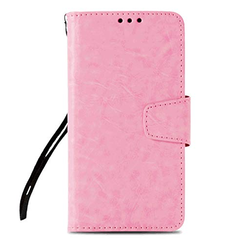 Flip Case Fit for Samsung Galaxy S10, Kickstand Card Holders Extra-Durable Pink Leather Cover Wallet for Samsung Galaxy S10