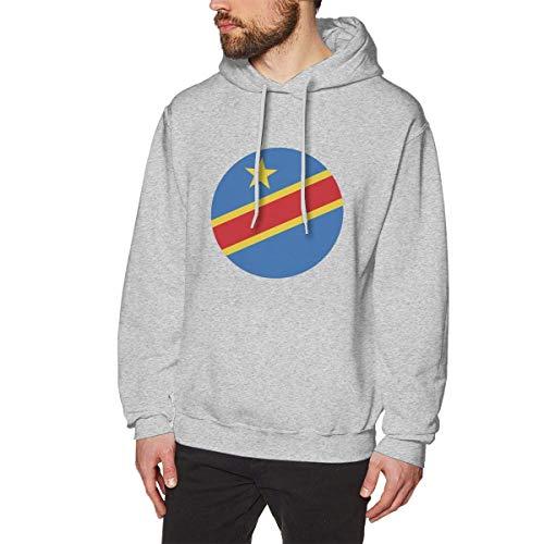 Men's Congo Hoodies Sweatshirt Pullover Sweater, Long Sleeves Hooded Clothing Suits S