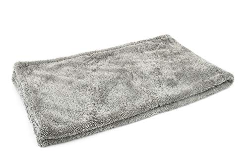 """[Dreadnought] Microfiber Car-Drying Towel, Superior Absorbency for Drying Cars, Trucks, and SUVs, Double-Twist Pile, One-Pass Vehicle-Drying Towel (XL (20""""x40""""), Gray)"""
