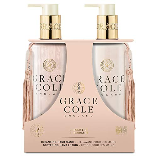 Grace Cole Ginger Lily & Mandarin Hand Care Set 2 x 300ml