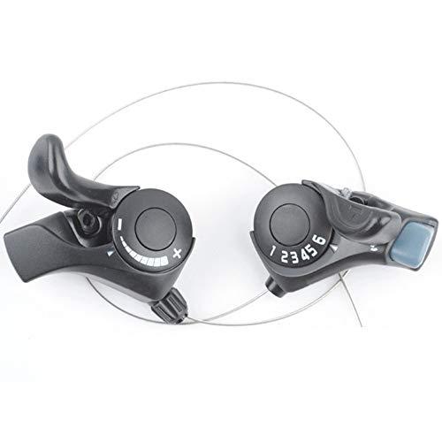 PGtwo Bicycle Thumb Gear Shifter - TX30-6 MTB Palancas de Cambio Bicicleta,...
