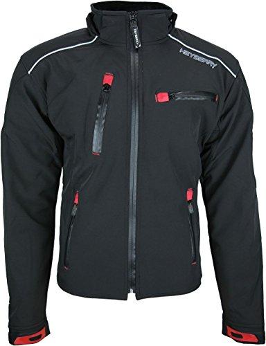 Heyberry Soft Shell Motorradjacke Textil Schwarz Gr. L - 4