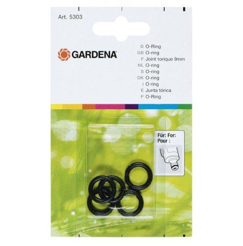 Gardena O-Ring: Vielseitiger Dichtungsring für den Anschluss aller Original Gardena System Anschlussnippel wie z. B. an Brausen und Regnern (5303-20)