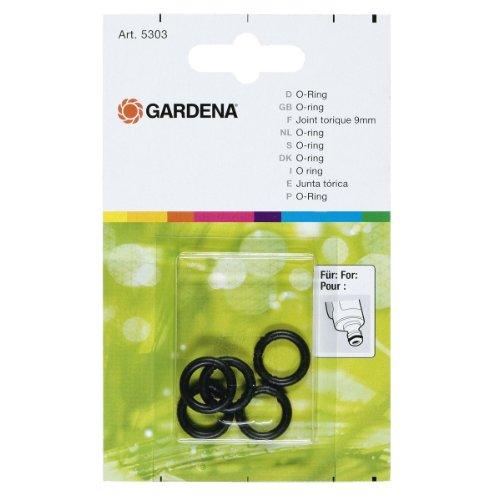 GARDENA O-Ring: Multifaceted sealing ring for connecting all fittings and connections to such attachments as pulse sprayers and sprinklers (5303-20)
