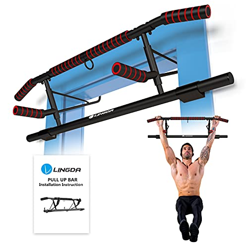 Barra de dominadas, marco para puerta para deporte y fitness en casa, estación de fuerza perfecta para tu gimnasio en casa, sin tornillos