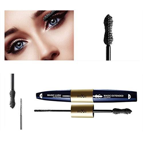 ColorfulLaVie Mascara Double Bout, Pinceau Ultra-fin pour Coin d'oeil Inférieur, Mascara Nourrissant Dense et Durable