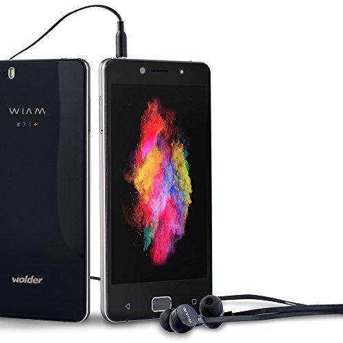 Wolder WIAM #71 - Smartphone Libre Negro (5' HD IPS OGS, Quad Core, 1 GB RAM, 8 GB Flash, 8 Mpx / 18 Mpx, Android 5.1 Lollipop, Dual SIM, 4G) Sensor De Huellas