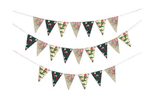 Doiy DYFLAGSFL Floral Party Flags, Papier