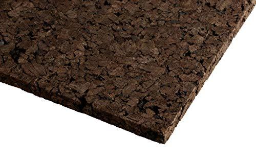 XL Korkrückwand Schwarzkork   expandiertes Korkgranulat   Naturkork   Backkork   90x60 cm   2 cm dick   gereinigt und desinfiziert Rückwand für Terrarium & Vivarium