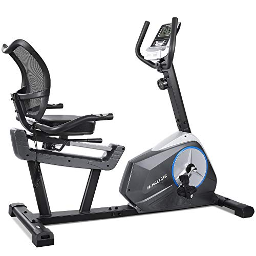 MaxKare Recumbent Exercise Bike Stationary Cycling Bike 8 Level Resistance Seat Adjustable Large Digital Monitor & Ipad Holder for Senior