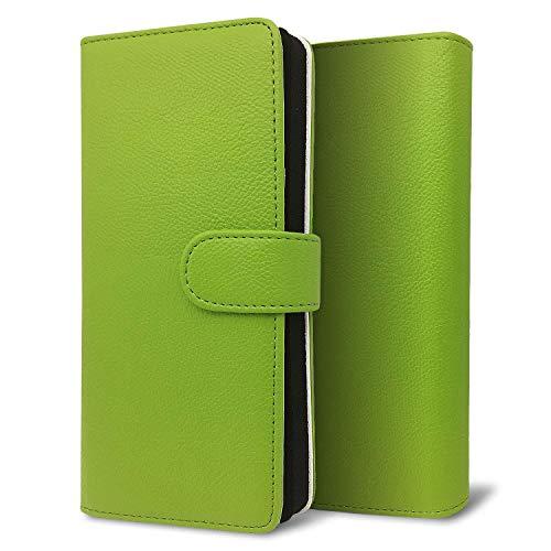 改良進化版 プルームテック プラス ケース Ploom TECH + 賢者の箱+ まとめて収納 コンパクト手帳型 ライチ柄 新型 グリーン