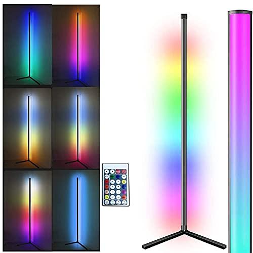 LED Stehlampe Dimmbar mit Fernbedienung Masqudo 156cm Dimmbar Stehlampen Farbwechsel Schwarz Stehlampe für Kinderzimmer Schlafzimmer Wohnzimmer