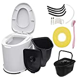 Non-Slip Portable Travel Toilet - for Hiking Camping - with Built-in Inner Bucket