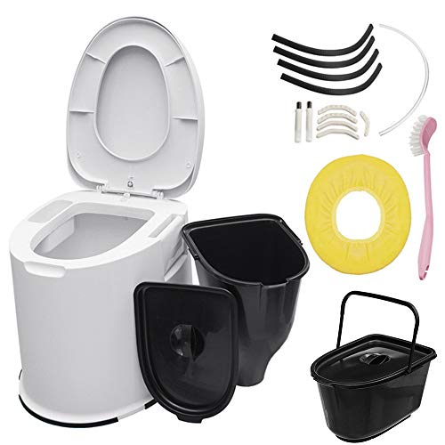 commercial ZJY Non-Slip Portable Travel Toilet-For Hiking Camps-With Built-in Paper Toilet with Internal Bucket … incinolet