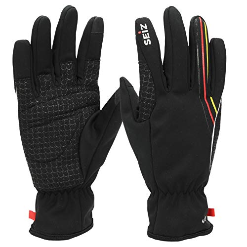 SEiZ Unisex– Erwachsene Touch Handschuhe, Schwarz, XL