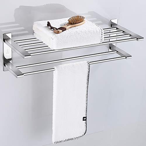 GXP Estante De Toalla De Baño De Acero Inoxidable 304, Estante De Toalla De Baño, Estante De Baño Colgante De Pared para Baño Material Grueso(Size:50)