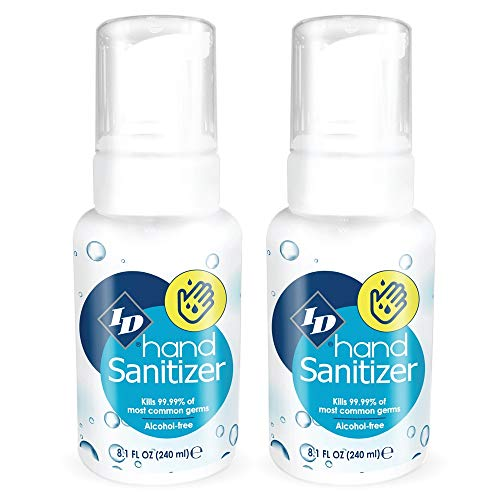 ID hand Sanitizer 8.1oz (Pk of 2) Antibacterial Made in USA Alcohol Free w/Foaming Dispenser