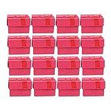 YLSZZTT 24 Uds, Organizadores De Joyas, Cajas De Regalo De Almacenamiento para Pendientes, Pulsera, Collar, Caja De Joyería Europea, Caja De Anillo (Color : Red)