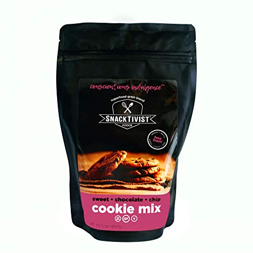 Snacktivist Foods - Gluten-Free Chocolate Chip Cookie Baking Mix - Vegan, Egg-Free, Dairy-Free, Non-GMO 10.5 OZ