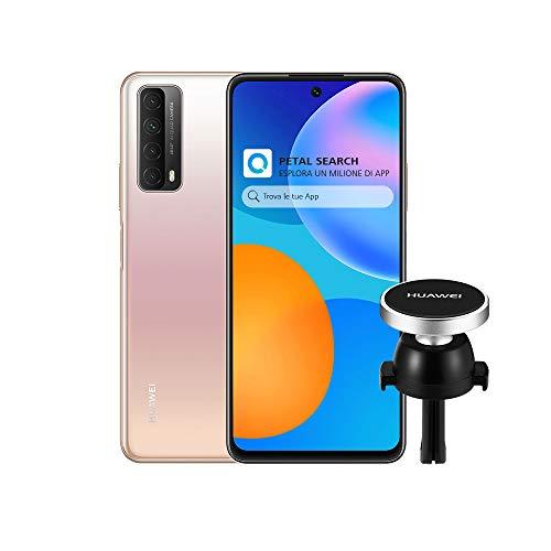 HUAWEI P Smart 2021 Smartphone e AF13 Supporto Magnetico, SuperCharge da 22.5 W, Batteria da 5000 mAh, Quattro Fotocamere 48 MP, Display FHD+ da 6.67 Pollici, 4 GB di RAM, 128 GB di ROM, Blush Gold