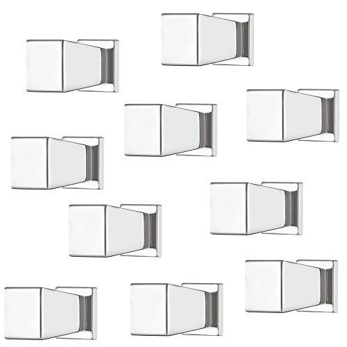 Gedotec Maniglia per mobili in metallo cromato lucido per cassetti – Maniglia 15 x 20 mm – Pomello per armadio, 1 pezzo – Pomello di design per mobili armadi da cucina & mobili