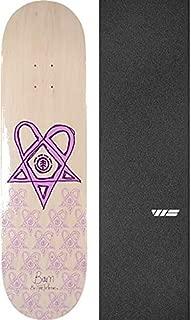 Element Skateboards Bam Margera Heartagram Tyson White/Purple Skateboard Deck - 8.5
