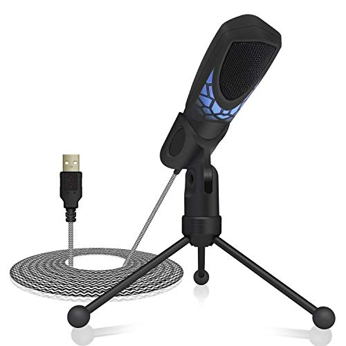 Tonor PC Micrófono para Juegos Condensador Profesional Grabación de