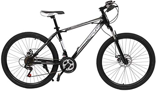 New Folding Camping Survivals Olympic Mountain Bike 26-inch 21-speed Black And White For Adult And Teen