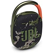 JBL Clip 4 - Portable Mini Bluetooth Speaker, Big Audio and Punchy bass, Integrated Carabiner, IP67 Waterproof and dustproof, 10 Hours of Playtime, Speaker for Home, Outdoor and Travel - (Squad)