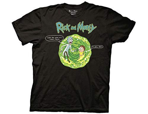Ripple Junction Rick and Morty Adult Unisex Looks Like We're on a T-Shirt Light Weight 100% Cotton Crew T-Shirt XL Black