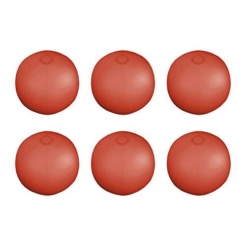 """eBuyGB Packung mit 6 aufblasbaren, durchscheinenden Wasserbällen, 26,5 cm / 10 \"""", Rot"""