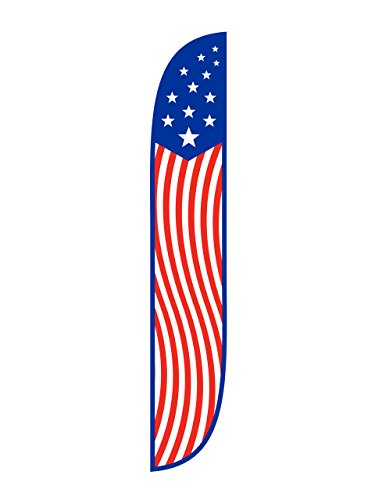 12-Feet LookOurWay Summer Camp Feather Flag