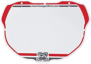 Free Agent Num. Plate Pro Red