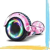 HST 6.5'' Hoverboard Patinetes de Acrobacias Patinete Eléctrico Bluetooth Monopatín Scooter Autobalanceado, Ruedas de Skate con luz LED, Motor Bluetooth de 700W… (Cielo Azul-N)